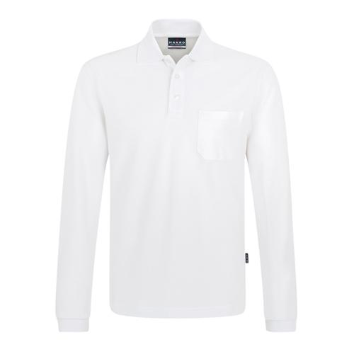 7418d1d671511d 809 HAKRO Longsleeve-Pocket-Poloshirt Top